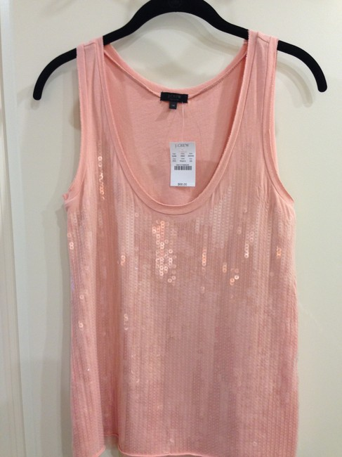 J.Crew Sequin Sleeveless Top Pink