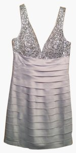 Minx Bejewled Silk Silky Dress