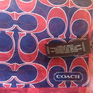 Coach Coach Navy Blue Red Scarf Bandanna Kerchief handkerchief