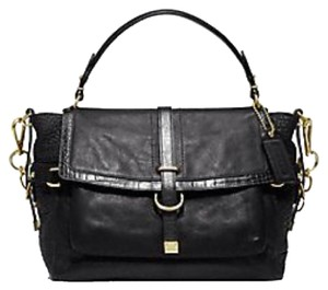 Coach Satchel in Black Slate Grey