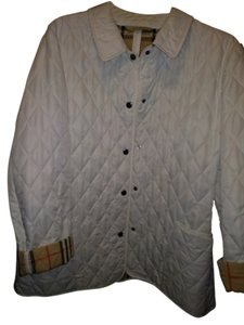 Burberry London Chalk (white) with classic check lining Jacket
