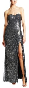 La Femme Sequin Sweetheart Detail Dress