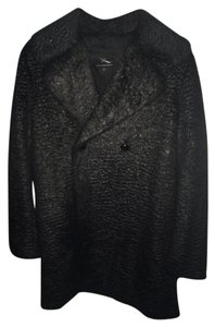 MCQ by Alexander McQueen Faux Fur Pea Coat