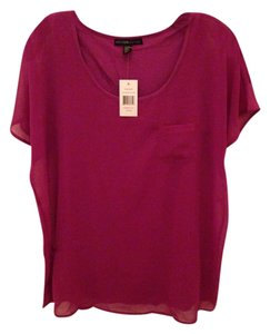 Design History Flutter Sleeve Magenta Top Magenta/Purple