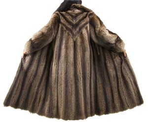 RACCOON FUR COAT Blue Fox Fur Coat