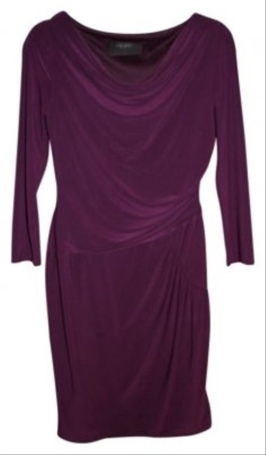 Preload https://img-static.tradesy.com/item/98581/nine-west-purple-knee-length-workoffice-dress-size-6-s-0-0-650-650.jpg