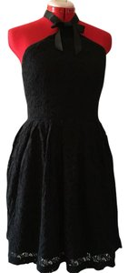 Rodarte for Target short dress Black Cotton Halter on Tradesy