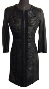 Elie Tahari Napa Leather Black Size Xs Dress