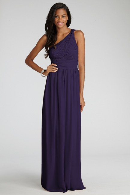 Item - Amethyst Polyester Chiffon with Satin Acetate Lining 'rachel' Ruched One-shoulder Gown Formal Bridesmaid/Mob Dress Size 4 (S)