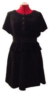 Marc by Marc Jacobs Velvet Stretch Cotton Peplum Babydoll Mbmj Dress