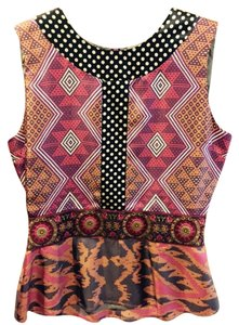 Whitley Top Pink and black multi