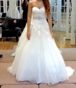 Group Usa Style S/l Ven Lace Tulle Bg, Ivory Size 0 Wedding Dress