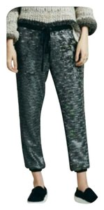 Free People Luxury Sequin Joggers Rare Relaxed Pants Gunmetal