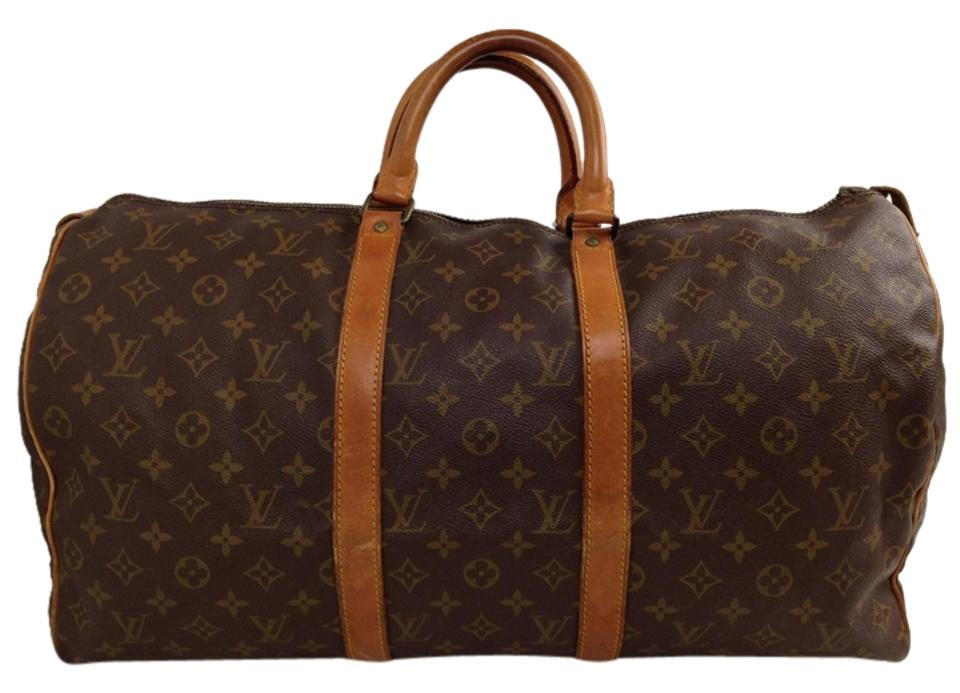 e90497aba633 Louis Vuitton Keepall 50 45 55 Vintage 60 Satchel Speedy Travel Bag Image 0  ...
