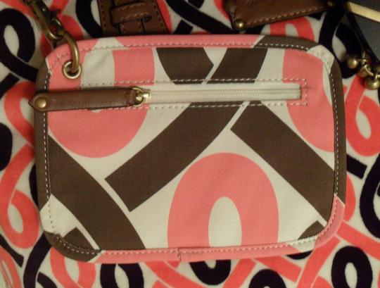 Juicy Couture Blondie Prepster Velour Leather New White Black Brown Tote in Pink