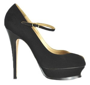Saint Laurent Ysl Yves Suede Black Pumps
