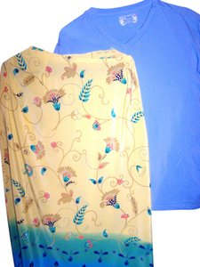 PAPI Skirt Long Flowered Top LT.BLUE