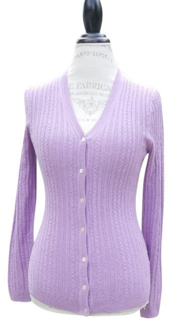 Preload https://img-static.tradesy.com/item/986008/brooks-brothers-lilac-womens-cashmere-msrp-cardigan-size-petite-2-xs-0-0-650-650.jpg