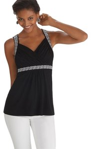 White House | Black Market Cami Embroidered Top Black