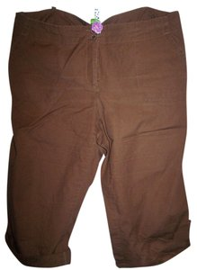 Liz & Co. Pants Brown Summer Capris