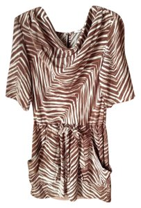 BCBGMAXAZRIA short dress Brown cream on Tradesy