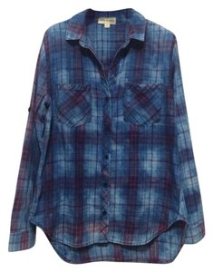 Anthropologie Cloth Stone Shirt Cloudwash Button Down Shirt plaid