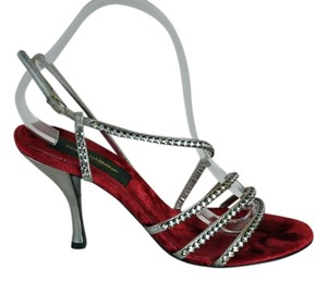 Dolce&Gabbana Dolce & Gabbana Crystal Embellishment Size 38.5 Made In Italy Silver Sandals
