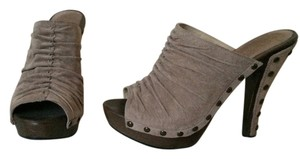 Guess Tan Suede Studded Platforms