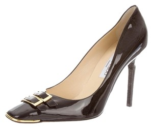 Jimmy Choo Patent Patent Leather Black Pumps