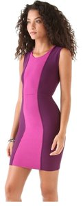 BCBGMAXAZRIA Color Block Colorblock Date Night Night Out Party Date Bodycon Fitted Short Mini Sleeveless Dress