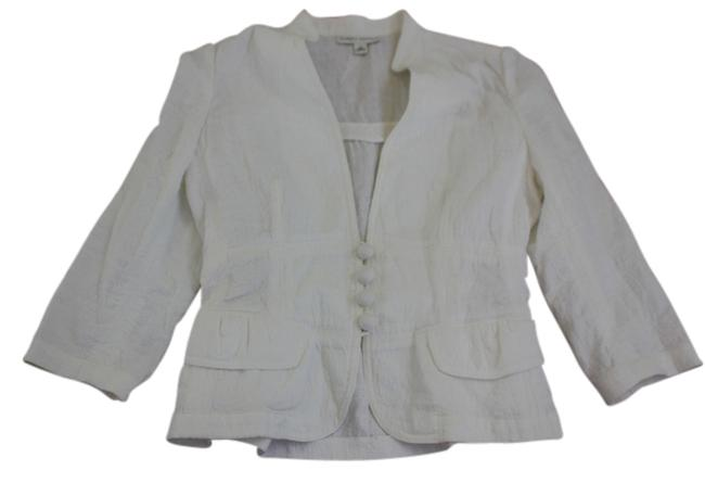 Preload https://img-static.tradesy.com/item/986186/banana-republic-white-cotton-summer-with-tie-back-blazer-size-8-m-0-0-650-650.jpg