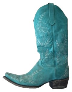 Lane Boots Cowboy Leather Turquoise Boots