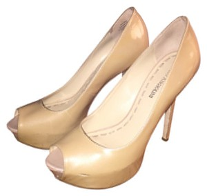 Enzo Angiolini Nude Patent Leather Pumps