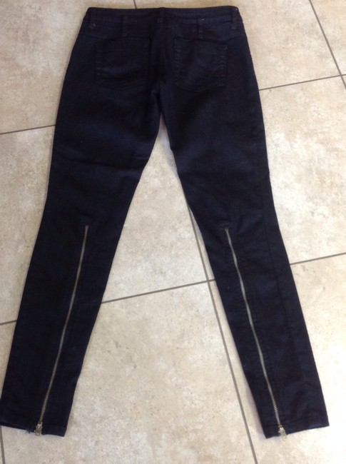 Pookie and Sebastian Never Been Worn Ankle Zippers On Skinny Jeans-Dark Rinse