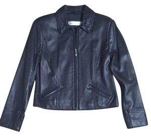 Valerie Stevens Leather Lambskin Petite Leather Jacket