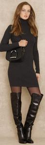 Ralph Lauren short dress Grey Sweater Turtleneck on Tradesy