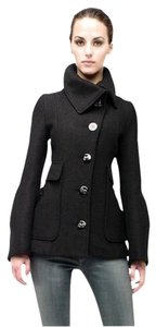 Mackage Wool Leather Brown Ava New With Tags Pea Coat