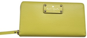Kate Spade NWT 100% AUTHENTIC KATE SPADE WELLESY NEDA LEATHER WALLET- LIMONIUM - WLRU1153 - MSRP $198