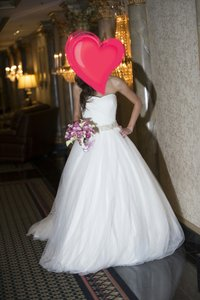 David's Bridal Davids Bridal Tulle Ball Gown Wedding Dress