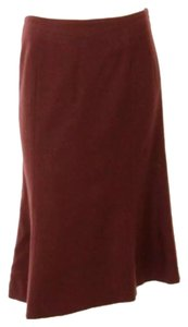 TSE A-line Business Work Skirt Burgundy