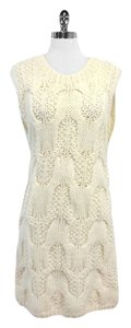 Vanessa Bruno Cream Wool Cable Knit Dress