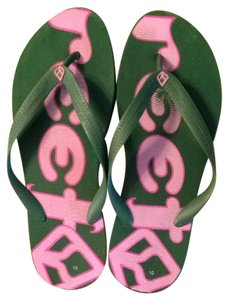 Reef Green, Pink Sandals