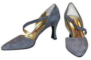 Rangoni Valentina Heels Women Leather Fashion Suede Work Evening Gray Pumps