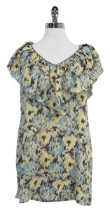 Rebecca Taylor Multi Color Print Silk Sleeeveless Tunic
