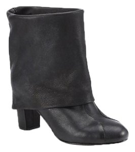 See by Chloé Chloe Chloe Fold Over Leather Classic Chic black Boots