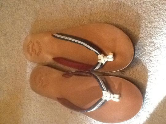 Hollister Blue/red/tan Sandals