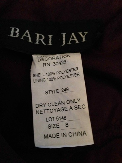 Bari Jay Plum Chiffon 249 Retro Bridesmaid/Mob Dress Size 4 (S)
