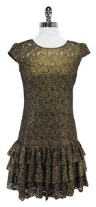 Cynthia Steffe short dress Gold Black Lace Lace on Tradesy
