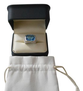 David Yurman David Yurman Noblesse Collection - Modern Noblesse Blue Topaz and Diamond Ring; Size 8.5
