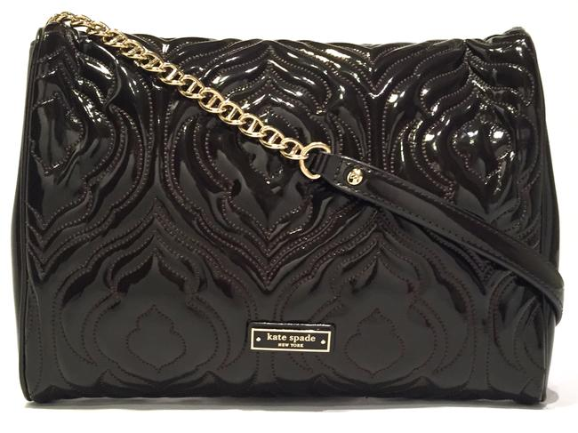 Item - Clutch Front Flap And Brown Patent Leather+ Shoulder Bag